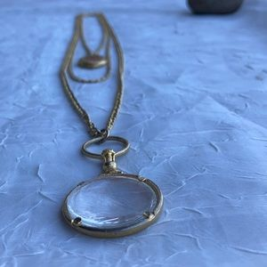 Vintage Goldette Locket/Magnifying Glass Necklace